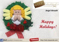 Kerstkrans Engel - Crochet Pattern van Eelz! - Eelzuhtjuh's Crochet & More op DaWanda.com