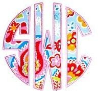 monogram applique-summer camp shorts or shirts ali and olivia style