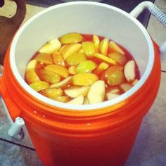 Jungle Juice Recipe: 1 Liter Everclear  5.25 Liter Vodka; 1 bottle Peach Schnapps; 1 pint Bacardi 151; 1 bottle Apple Schnapps; 10 Liter Sprite; 1 Liter Orange Juice; 1 Liter Triple Sec; 1.7m Liter Gin; 350 ml bottle Sour Apple Schnapps; 4 bottles Boones Farm (Strawberry); 8 Liters Hawaiian Punch; 2 containers of frozen orange juice & fruit. Use a lg container and add all ingredients. Allow the fruit to soak in the alcohol for 12 hours or so.  Serve!