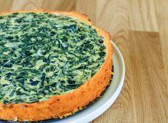 tarta de espinaca con base de calabaza sin harina