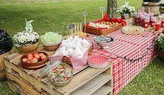 festa piquenique pallets