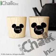 Mickey Mouse Head Chalkboard Labels Tag Shape Set of by iChalkInc, $8.00
