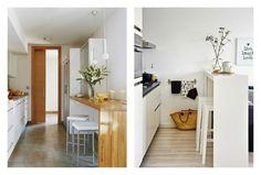 barras altas de cocina para crear office : via MIBLOG