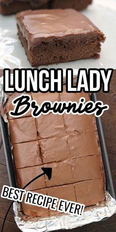 Lunch Lady Brownies are the best dessert ever! These fudge brownies with homemade chocolate frosting on top are everyone's favorite. Lunch Lady Brownies, Easy Gluten Free Desserts, Fun Desserts, Delicious Desserts, Simple Dessert Recipes, Cake Mix Desserts, Brownie Desserts, Quick Easy Desserts, Easter Desserts