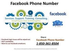 Can I make a phone call on Facebook Phone Number 1-850-361-8504?Yes, you can make a phone call on our Facebook Phone Number 1-850-361-8504 for availing the following services:- • Get solutions fromour dexterous technicians. • Our techies will handle all type of Facebook glitches. • 24/7 availability. http://www.mailsupportnumber.com/facebook-technical-support-number.html