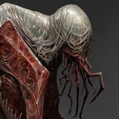 ArtStation - Hounds of the Black Grail, mike franchina Fantasy Demon, Dark Fantasy Art, Monster Concept Art, Monster Art, Creature Concept Art, Creature Design, Arte Horror, Horror Art, Cthulhu