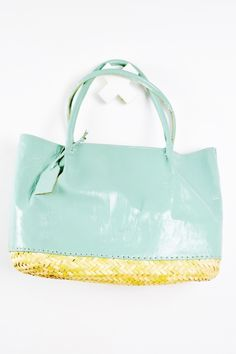 When The North Wind Blows - Basket Base Leather Tote - Mint, $155.00 (https://www.northwindblows.com.au/basket-base-leather-tote-mint/)