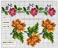 "Photo from album ""Маленькие розы"" on Yandex. Cross Stitch Rose, Cross Stitch Borders, Cross Stitch Flowers, Cross Stitch Charts, Cross Stitch Designs, Cross Stitch Embroidery, Hand Embroidery, Cross Stitch Patterns, Christmas Embroidery Patterns"