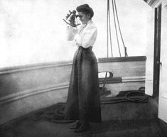 Agnes Tapley sailed with her husband aboard the bark Saint James during the late 19th century. Some women like her learned navigation from their husbands while at sea.