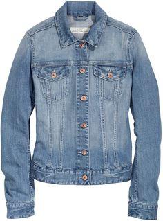 H&M Denim Jacket - Light denim blue - Ladies on shopstyle.com