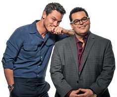 """Luke Evans and Josh Gad at the press junket for their film, """"Beauty and the Beast"""" at the Montage Hotel in Beverly Hills, Calif. (Photo by Ron Eshel/Invision/AP) - (x)"""