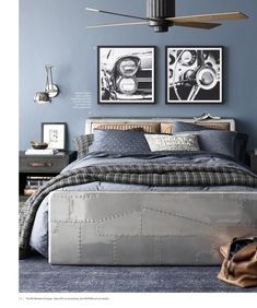 33 Best Teenage Boy Room Decor Ideas and Designs for 2018 Boys room ideas from DIY to decorating to color schemes- so much inspiration to make your boy's room cozy and stylin'. Diy Room Decor For Teens, Boys Bedroom Decor, Boys Bedroom Ideas Tween, Bedroom Themes, Vintage Teenage Bedroom, Diy Bedroom, Vintage Car Room, Vintage Cars, Teen Boys Room Decor