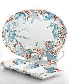 222 Fifth Coastal Life Serveware Collection - Serveware - Dining & Entertaining - Macy's
