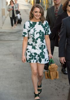 Maisie Williams in Kate Spade