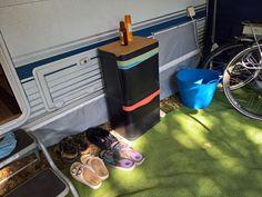 De BinBang kan ook gewoon mee op vakantie! Op steeds meer campings kun je afval scheiden, en dat wordt super makkelijk met onze afvalbak.