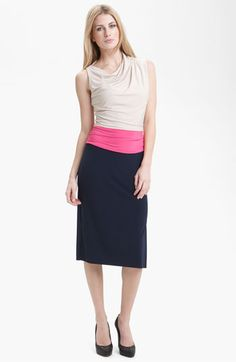Suzi Chin for Maggy Boutique Colorblock Draped Jersey Dress (Petite) available at #Nordstrom