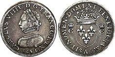 Piéfort de poids quadruple du demi-teston figurant Charles IX, 1573, Paris.