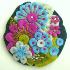 POCKETFUL OF POSIES - GREEN by APPLIQUE-designedbyjane, via Flickr