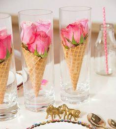 Le Frufrù: Coni gelato con i fiori