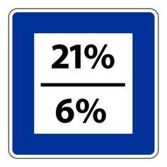 Een percentage die boven op de verkoopprijs van een product komt. Het kan een percentage zijn van 21%, 6% of 0%.