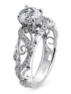 vintage inspired fancy wedding engagement rings