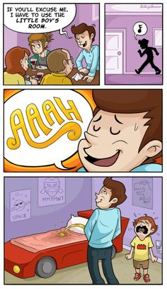 Not That Little Boys Room - Comics from around the Web Party Fail, College Humor, Super Funny, Funny Posts, Best Funny Pictures, Little Boys, I Laughed, Haha, Funny Memes