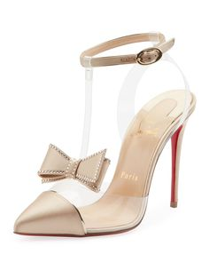 316533289e1 Christian Louboutin Naked Bow Red Sole Pumps