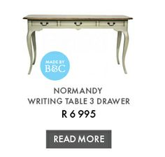 NORMANDY WRITING TABLE 3 DRAWER