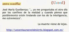 """José María Guelbenzu: """"Yo me preguntaba...""""."""