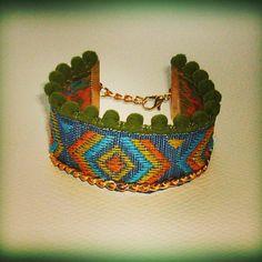 #bracelet #bohemian #ponpon #mystyle #fashion  bohem Sophie's world.  Βρειτε ολα τα σχεδια στο  fb/pages/Sophies-world Sophie's World, Handmade Jewelry, Bracelets, Instagram Posts, Bracelet, Hand Print Ornament, Bangles, Handmade Jewellery, Bangle