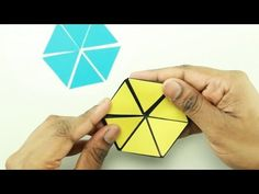 This geometric toy is really fun. This Hexaflexagon is made by black thick paper and decorated with 3 different colors to get color changing effect. Make Color, Color Change, Diy Best Friend Gifts, Small Craft Rooms, Math Art, Paper Crafts Origami, Origami Tutorial, Craft Night, Paper Folding