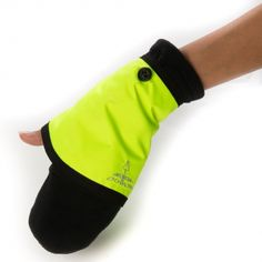 Georgia in Dublin Gloves & Cuffs - High Viz Yellow £23