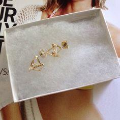 Gorgeous Cutout Studs Earrings New in box Studs Earrings Jewelry Earrings