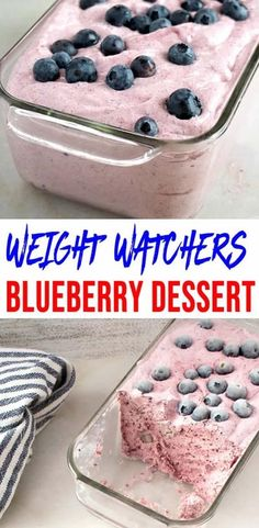 Here is a quick and easy homemade blueberry Weight Watchers dessert recipe. If you are looking for a delicious and tasty dessert for a Weight Watchers diet then try this one out. Weight Watchers Desserts, Pancakes Weight Watchers, Plats Weight Watchers, Weight Watchers Diet, Ww Desserts, Health Desserts, Dessert Recipes, Weight Watchers Blueberry Recipe, Low Calorie Desserts
