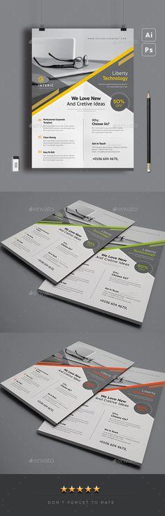 Flyer - Corporate Flyers Design Girl, Print Design, Graphic Design, Internet Logo, Text Fonts, Business Flyer Templates, Corporate Flyer, Modern Logo, Blue Building