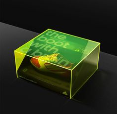 Progress Packaging Adidas Retail Fashion Boxes Acrylic LaserEtched Promotion FMCG