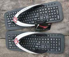 Chinelos em forma de teclado bem criativo confira novas dicas com   http://www.webnuvemideias.blogspot.com.br