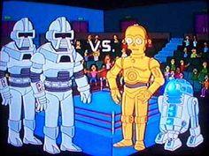 Tag Team Wrestling: Evil Robots from Battlestar Galactica Vs The Gay Robots from Star Wars