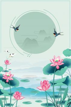 Lotus Art, Blue Lotus, Retro Background, Background Images, Lotus Flower Pictures, Watercolor Lotus, Lotus Painting, Victorian Wallpaper, Lotus Pond