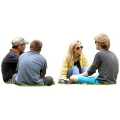 Four-Friends-Sitting-in-the-Grass.png (1360×1360)