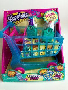 NEW Shopkins Season 3 Shopping Cart XL Shoppin' Push 2 Exclusive Shopkin Figures #MooseToys