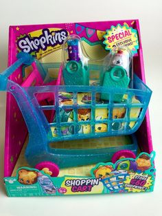 NEW Shopkins Season 3 Shopping Cart XL Shoppin' Push 2 Exclusive Shopkin Figures #MooseToys