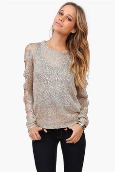 Shredded glitter sweater <3
