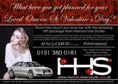 Taking bookings for the #Valentine's #VIP package through the #hhsliverpool website but be quick there are only a few left! http://www.harrisonhairstudio.co.uk/Blog/Entries/2015/1/26_St_Valentines_Day_VIP_package.html Harrison Hair Studio nominated for Liverpool's Best Independent Hairdresser 2015, Lifestyle Magazine Awards! Please vote http://www.liverpoollifestyleawards.co.uk/vote.html