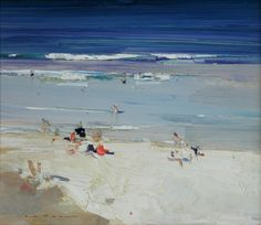 Paintings - Kenneth J. Knight - Page 16 - Australian Art Auction Records Australian Painters, Australian Artists, Seascape Paintings, Landscape Paintings, Mary Cassatt, Coastal Art, Beach Scenes, Beach Art, Art Auction
