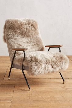 drooling over this Anthropologie Auckland Quentin fur accent Chair