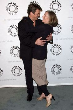 Nathan Fillion and Susan Sullivan at The Paley Center on September 30, 2013.