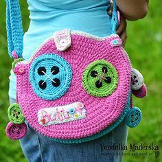 ****Inspiration**** crochet buttoned bag pattern by Vendulka