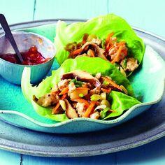 Sesame-chicken lettuce wraps