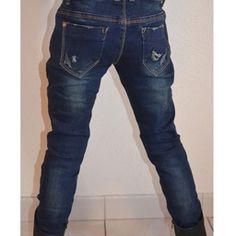 Jeans slim effet usé